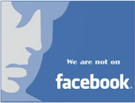 We are not on facebook! (Artwork courtesy of 28C3)